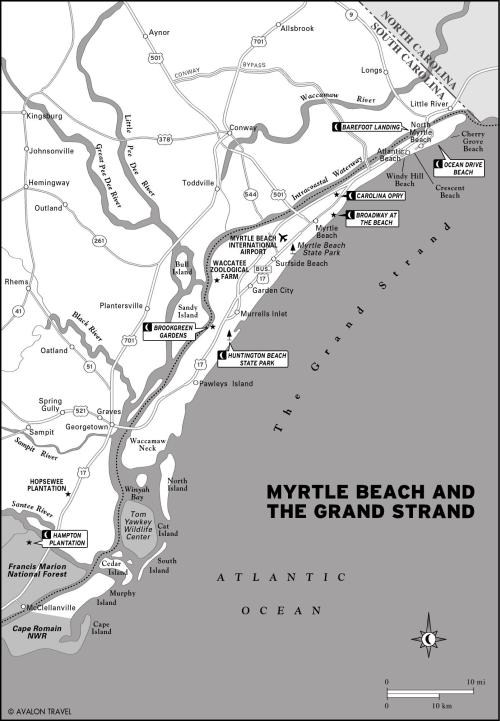 Map of Myrtle Beach SC and South Carolina Grand Strand